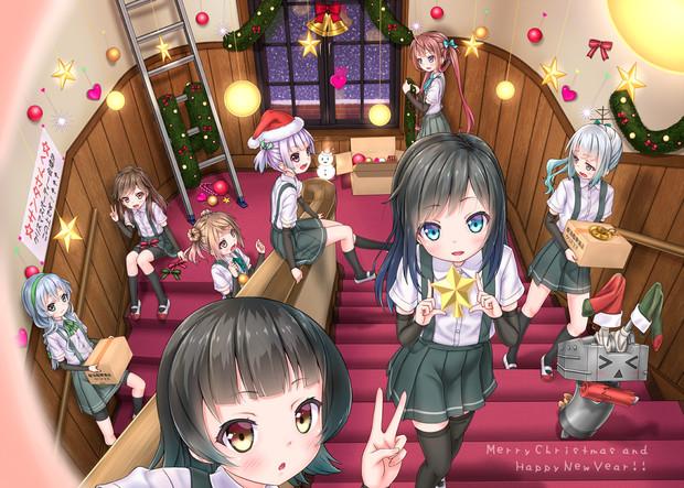 「朝潮ちゃん達は今クリスマスパーティーの飾りつけに行っているのです!」