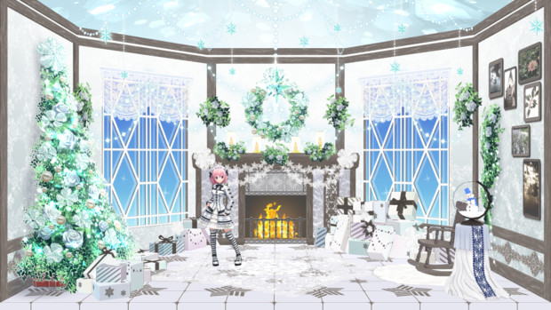 【MMDステージ配布】クリスマス部屋