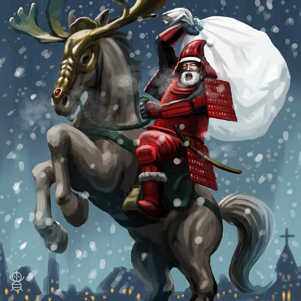 サンタが街に攻(や)ってくる