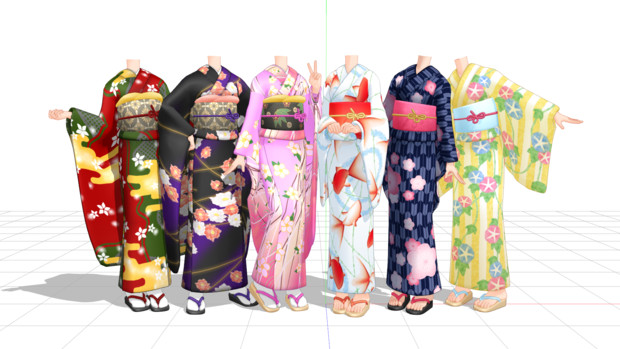 【MMD】金子式振袖&浴衣