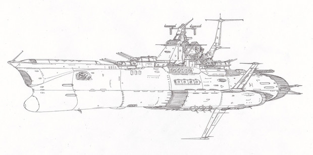 ツクバ級主力宇宙巡洋戦艦「自作艦」