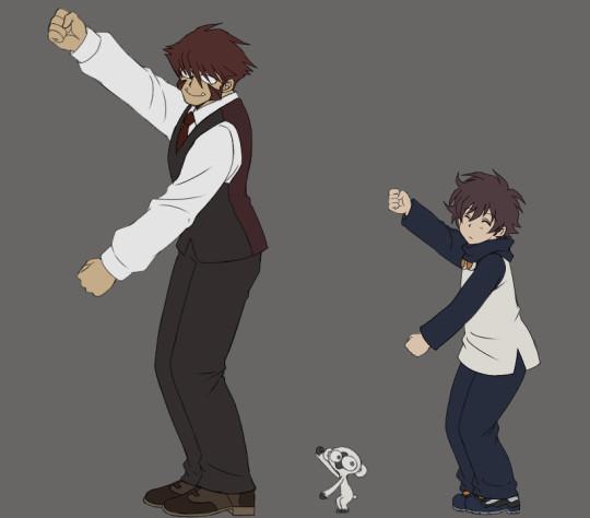 【GIFアニメ】レオとクラウスが踊ってるだけ