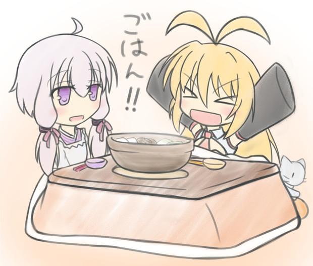 マキさーん、ご飯の支度できましたよー