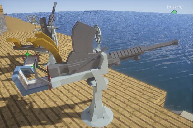96式25mm単装機銃を作ってみた。【JointBlock】【Minecraft