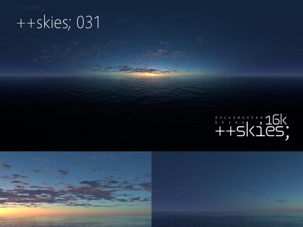 [HDR形式あり] ++skies; 031 [16k8k/8k4kスカイドーム素材配布]