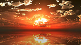 【MMDステージ配布】壮麗な夕陽 TN3【スカイドーム】