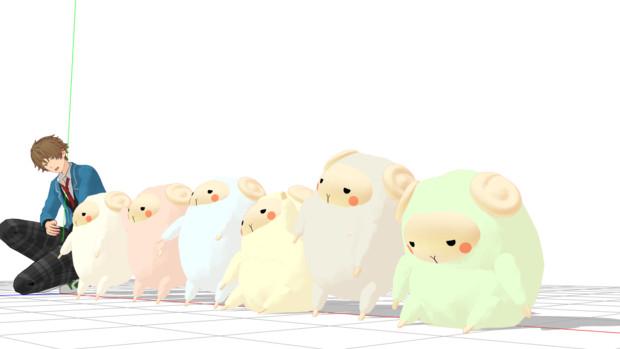 【配布】翠くんが抱き枕カバーで抱えていた羊