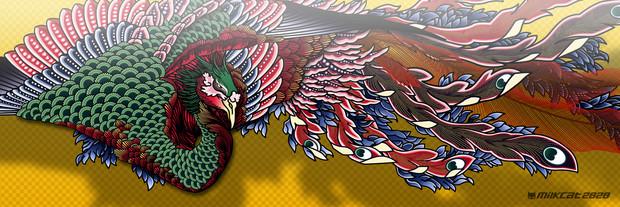 葛飾北斎・鳳凰(hokusai phoenix)