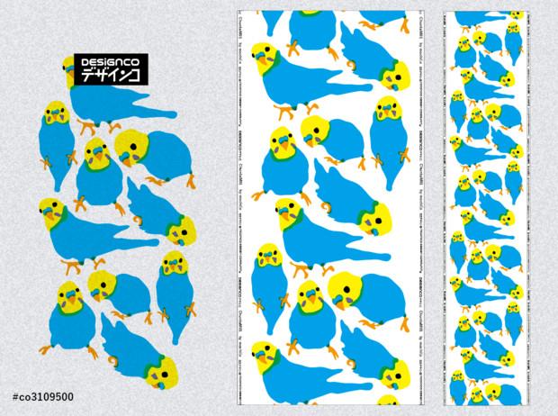 マリメッコ風セキセイインコレインボー01 Mochio さんのイラスト