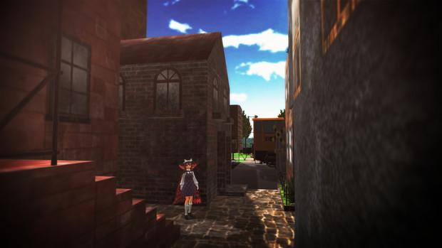 路地裏の秘封少女