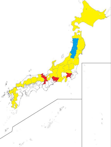 都道府県別 新幹線の駅の有無