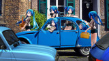 フレンチブルーな街角