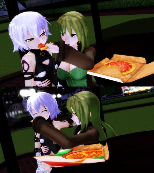 【Fate/MMD】ピザを食べる親子