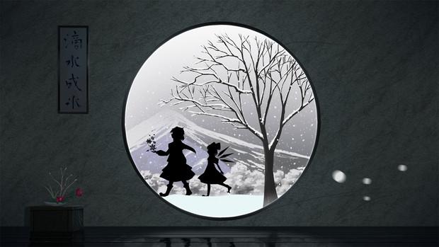 丸窓と白銀の冬