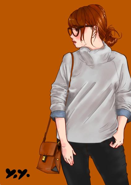 タートルネックセーター(模写)