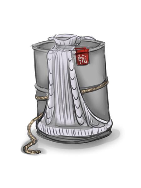 例のセーターを着たドラム缶(輸送用)