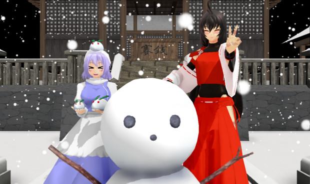 【みんなの先代日記】先代様とレティと雪遊びと