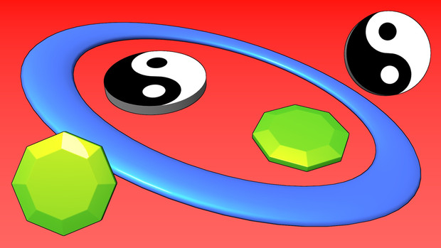 輪、八角形、陰陽