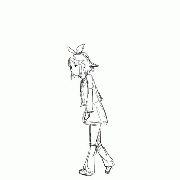 リンちゃんgifアニメ