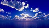 【MMDステージ配布】藍色の朝空 TQ2【スカイドーム】