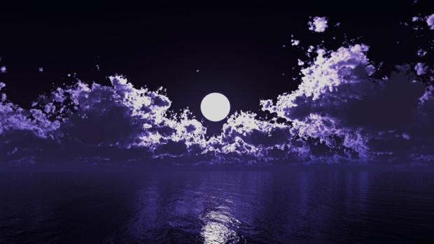 【MMDステージ配布】夜桜の様な雲 TQ4【スカイドーム】