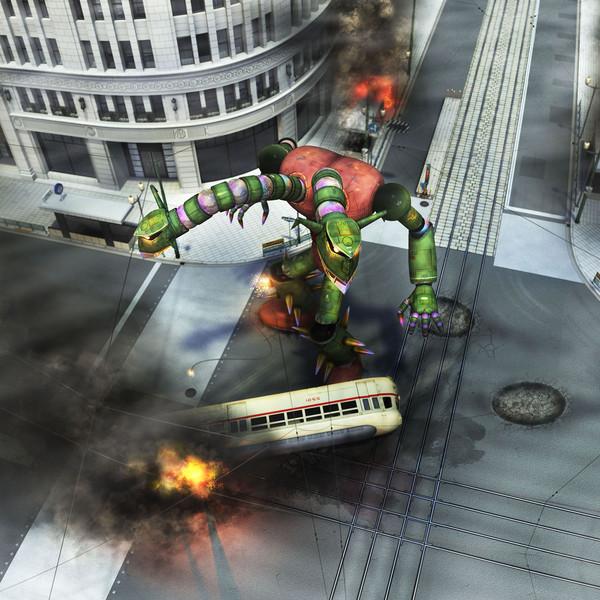 機械獣東京に現わる。