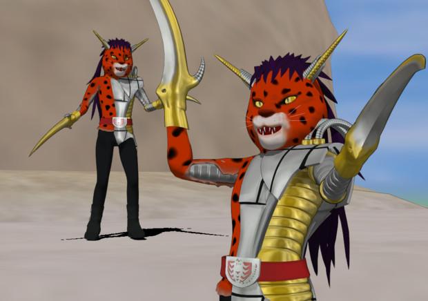 【MMD】半けもジャガーさん【鋏豹】