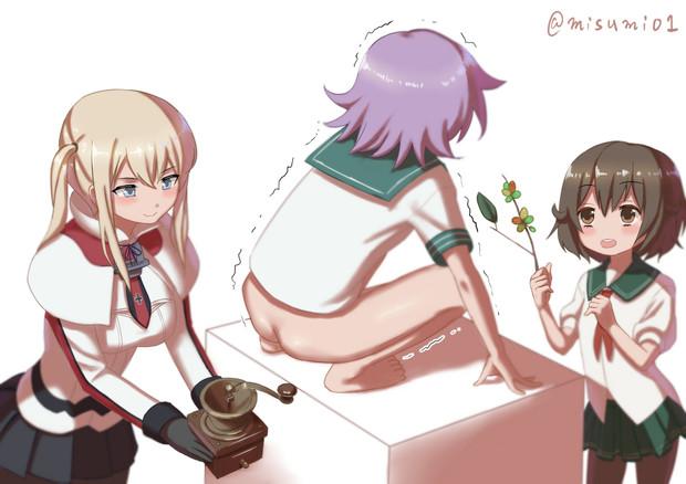 提督にいいコーヒーを飲んでもらおうとコピ・ルアクを作る事に挑戦するグラーフ