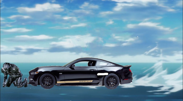水上で86に轢かれる1秒前のプロトゼロ
