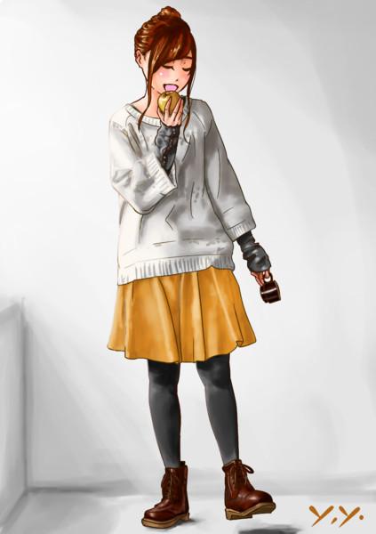 ひざ上スカート(模写)