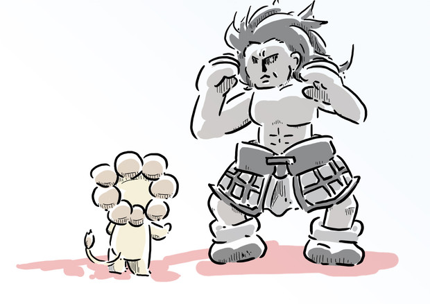凶暴なライオンと獰猛なヘラクレスの戦い