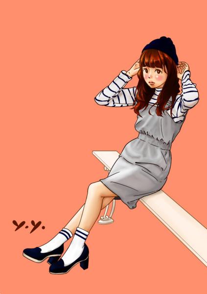 オーバーオールスカート(模写)