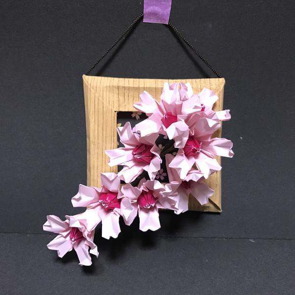 ☆折り紙☆桜の壁飾り☆