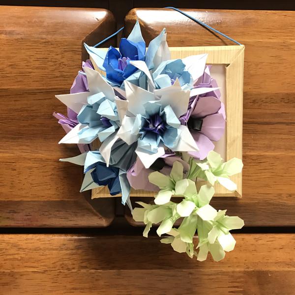 ☆折り紙☆花の壁飾り☆