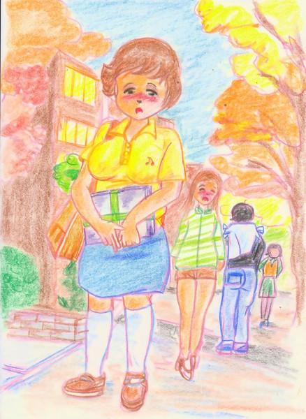 のすじいの昭和色鉛筆戯(ざ)れ絵 どこぞの私大キャンパス