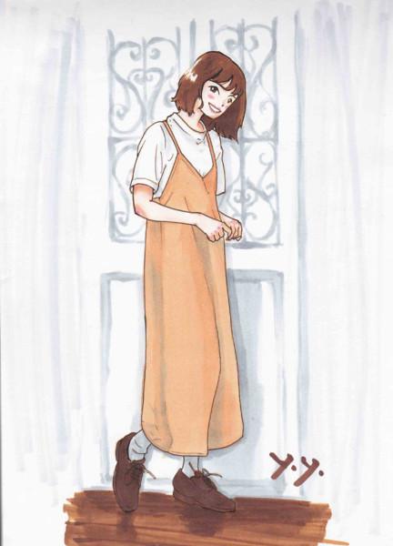 ジャンパースカート(模写・コピック)