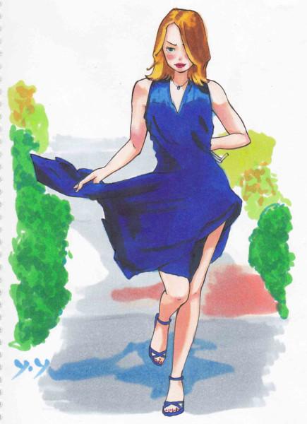 ドレス(模写・コピック)