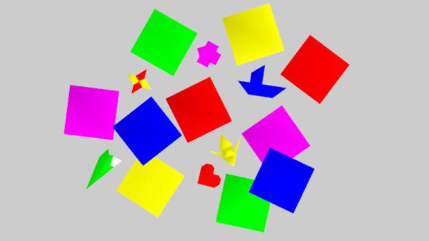 折り紙で折った青い紙兜のもこもこフレーム飾り枠イラスト 無料