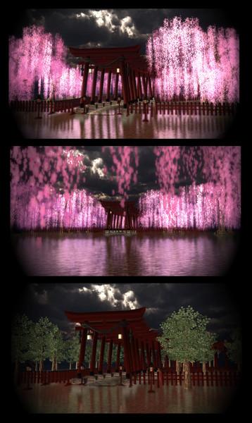 枝垂れ桜神社