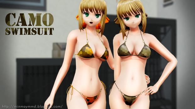 【MMD】コミュ向け水着テクスチャ7 配布