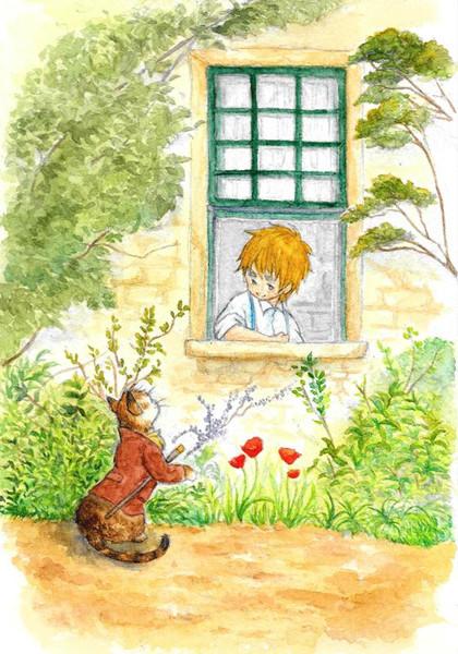 眉毛の庭と通りがかりの猫紳士