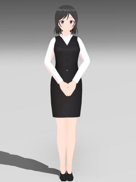 【配布】スーツOL娘2【MMDオリキャラ】