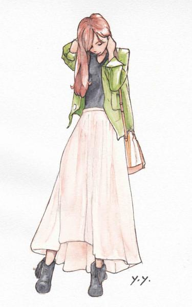 テールスカート(模写・アナログ)