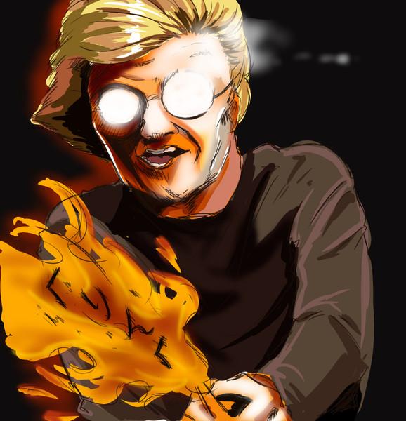 嫉妬の炎で女投稿者を焼き尽くす男
