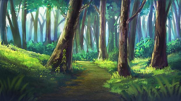 Trpgフリー素材森の中ゲーム使用ok つけめん さんのイラスト