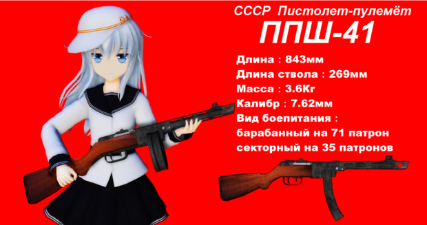 艦娘による銃器紹介 #4「PPSh-41」