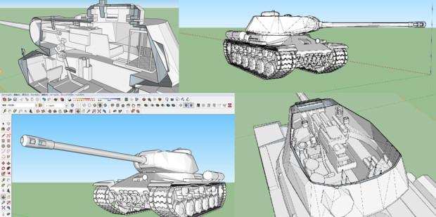 【MCHeli】ИС-2 スターリン ~Part.2 モデリング完成~
