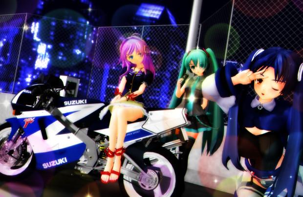 今夜はバイクでドライブ☆