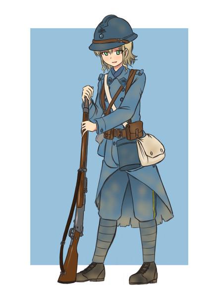 WW1後期のフランス軍歩兵