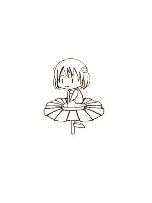 【GIFアニメ】お花バイクに乗る山水木さん【テスト投稿】